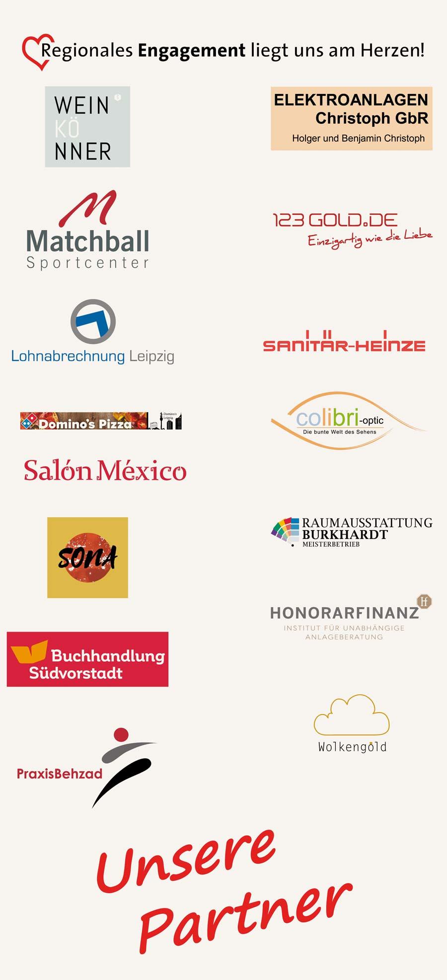 Logos der Partner des Tennisvereins